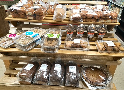 Hamburger buns, brat Buns, homemade pies and sweet treats are available