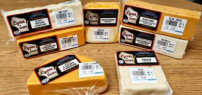 A variety of Wisconsin cheeses