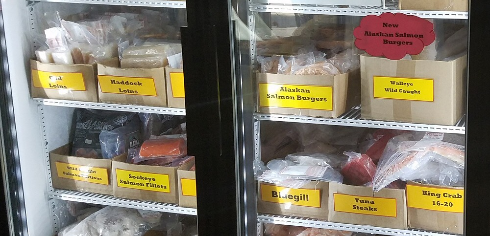 Bessey's Meat Market carries fresh seafood and fish