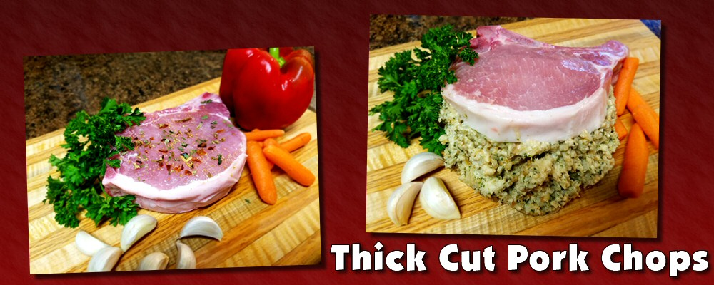 Thick cut pork chops